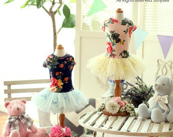 Free Shipping/ Pretty Bongbong - Designer Handmade tutu dress  w/ pearl necklace for Dogs and Pets