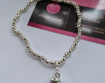 cupcake 3d charm anklet 10- inches length