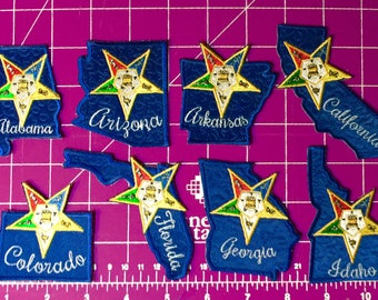 Order of the Eastern Star Jurisdiction Iron On Patches - OES