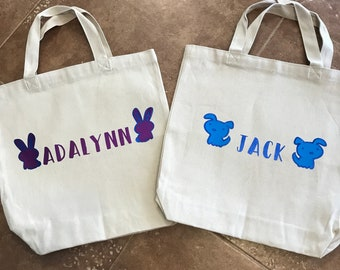 Canvas Library Tote with Custom Child's Name