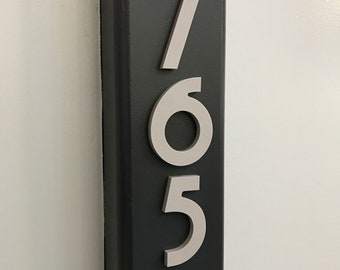 4 inch Magnetic Art Deco Numbers Letters for doors, houses, mailboxes, address