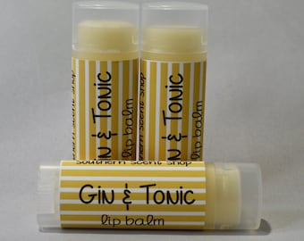 Gin & Tonic - Lip Balm - Gin Flavored - Lip Butter - Natural - Handmade