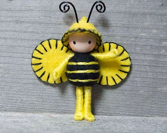Bumble Bee version 2 tiny bendy doll bug
