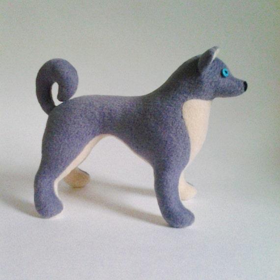 Husky dog pattern plush toy dog sewing pattern soft toy dog