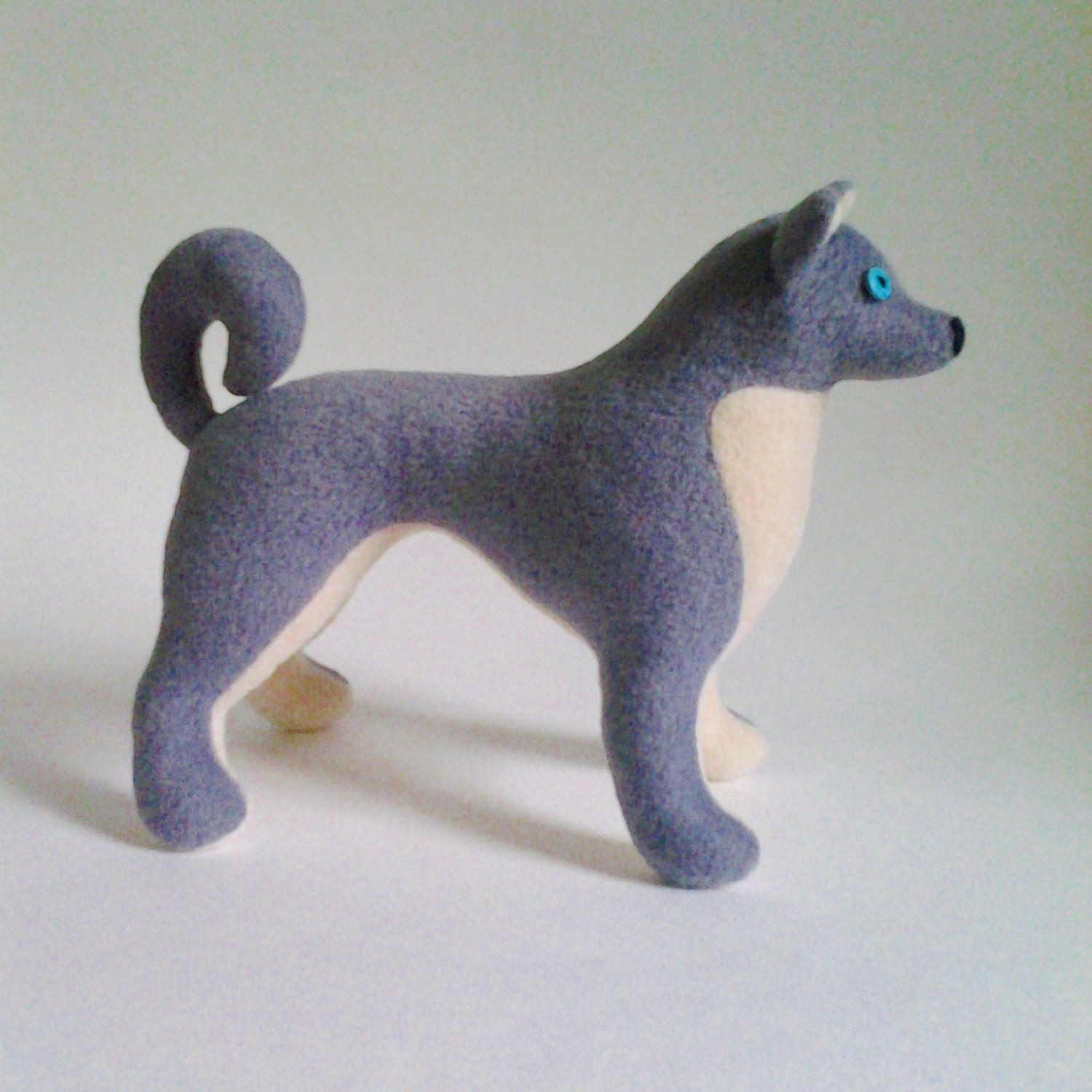 Husky dog pattern plush toy dog sewing pattern soft toy dog