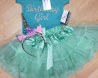 Custom Girls  Birthday Outfit Top and Skirt