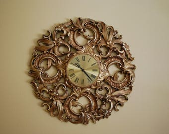 Decorative Brass Faced Clock