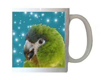 Hahn's Macaw Parrot White 11oz Ceramic Coffee Mug