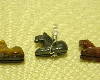 Gemstone Horse Necklace
