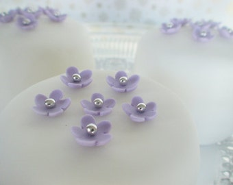 edible sugar mini flowers  color of your choice