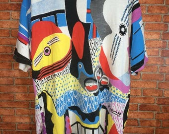 Vintage Picasso 1988 Multi Colour size XL