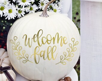 Welcome Fall - Hand Lettered SVG
