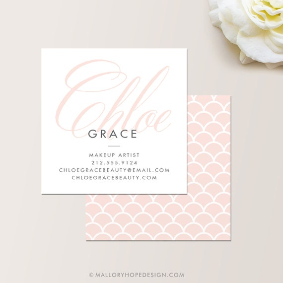 Grace square makeup artist or cosmetologist business card grace square makeup artist or cosmetologist business card calling card mommy card contact card modern business cards calling cards colourmoves