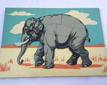 Vintage   Elephant   Wooden Puzzle   Jigsaw Puzzle