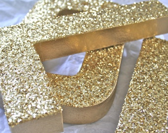 Glittered Letters & Numbers, Wedding or Party Decor Photo Props, Self Standing