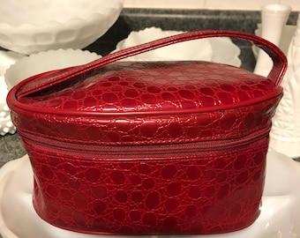 Vintage Red Cosmetics purse