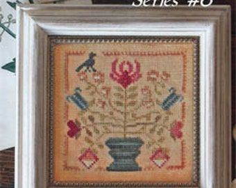 BLACKBIRD DESIGNS Tulip and Lily Garden Club #6 counted cross stitch patterns at thecottageneedle.com