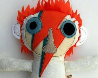 David Bowie Aladdin Sane Stuffed Toy