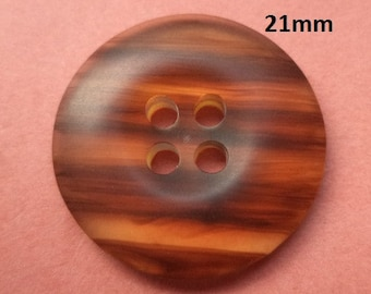 9 Buttons Brown 21 mm (3182) button dark brown brown