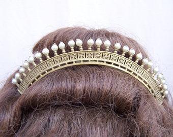 Regency pearl tiara hair comb hair ornament hair accessory bridal headdress headpiece hair accessory crown