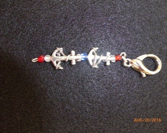 Fobs Anchor charms to attach to any of your blongings about 3 inches long