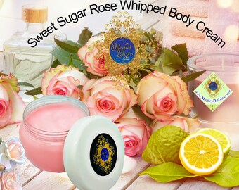 Sweet, Sugar, Rose, Whipped, Body Butter, Body Souffle, Body Cream