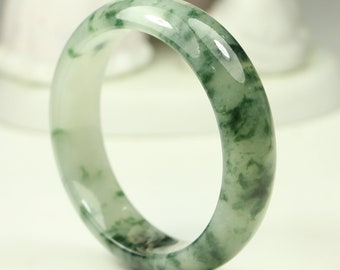 51.19mm Natural Jade Bangle Very Translucent Green MB7LL3 Grade A Untreated