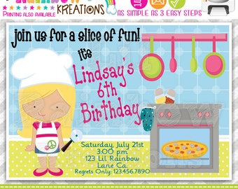 416: DIY - Little Chef Party Invitation Or Thank You Card