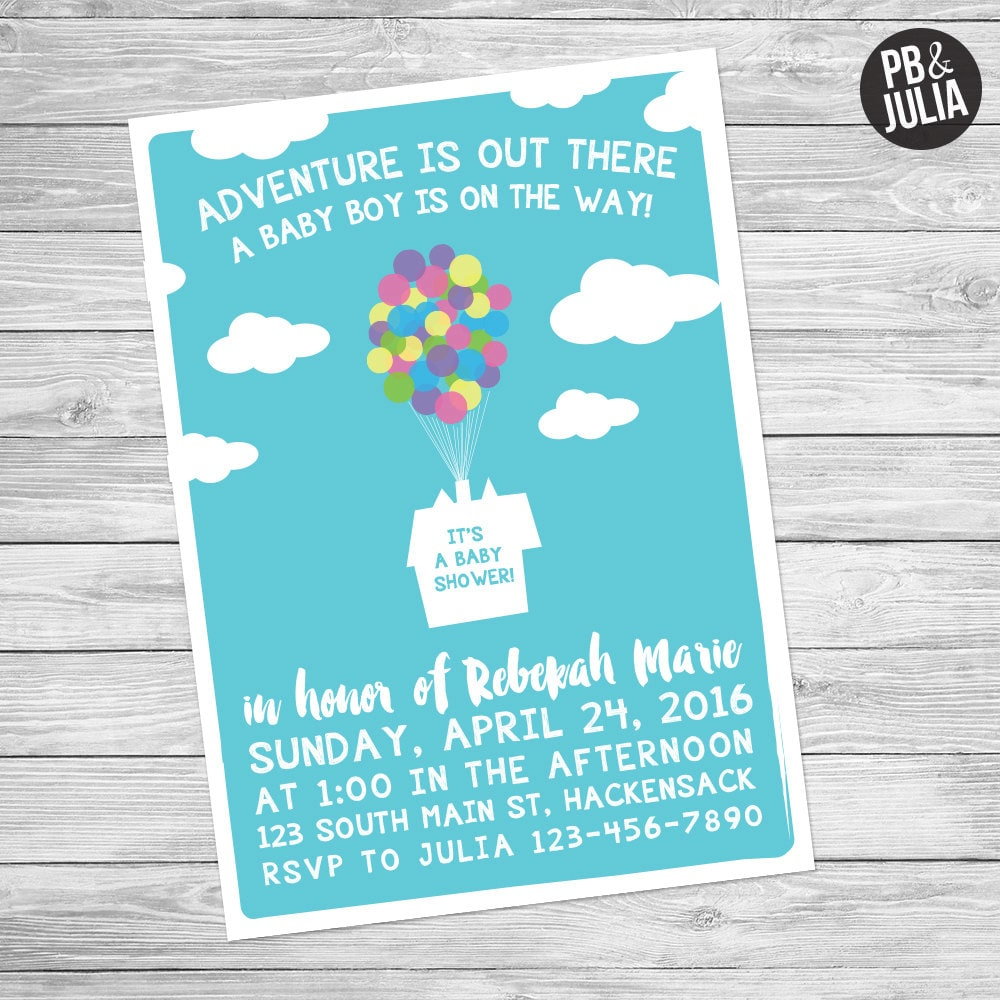 UP Baby Shower Invite Disney Baby Shower Disney UP Baby