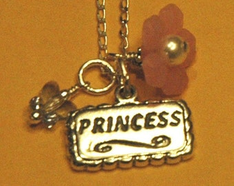 Princess Charms Sterling Silver Children Necklace