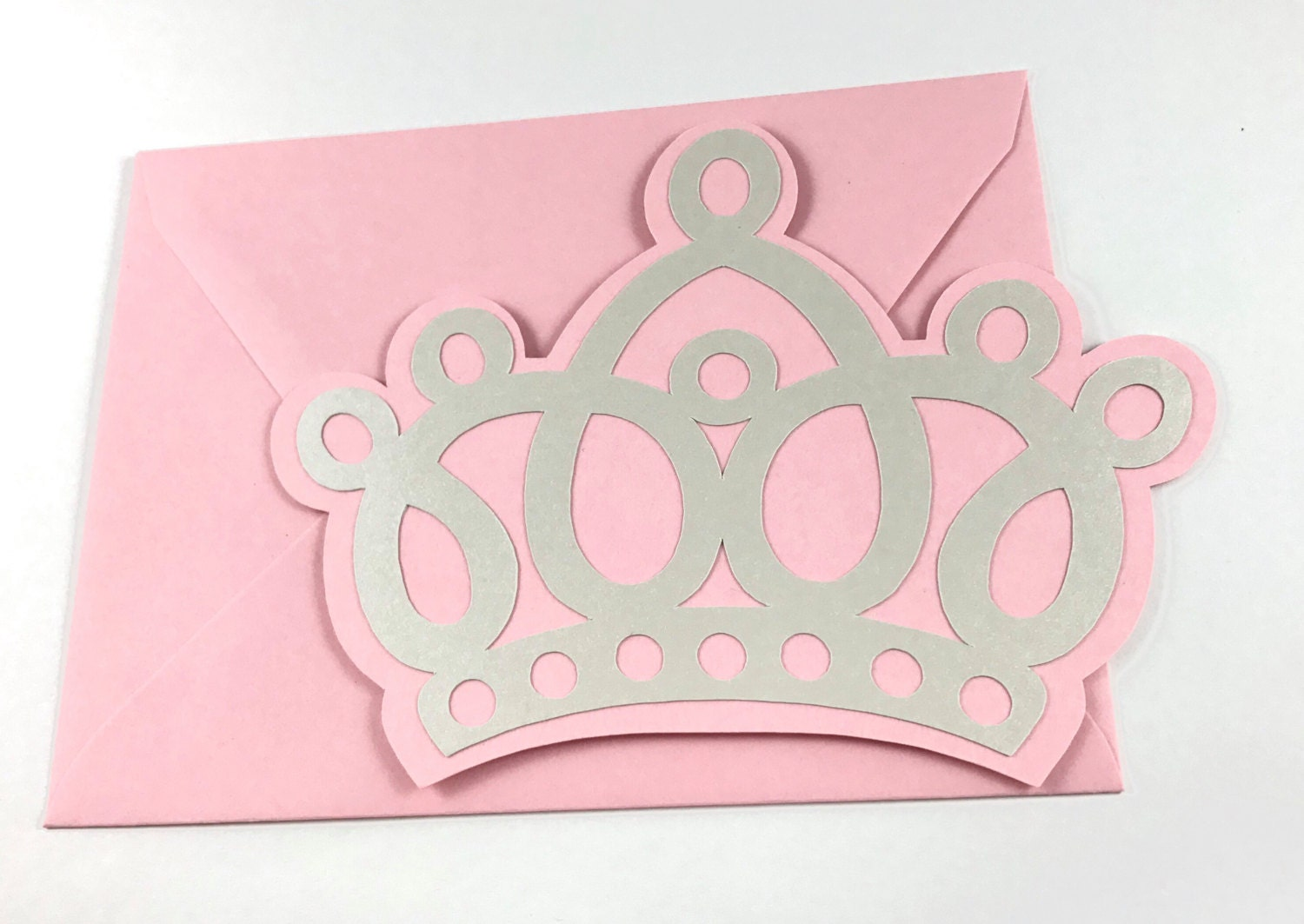 Pink Princess Crown Party Invitations