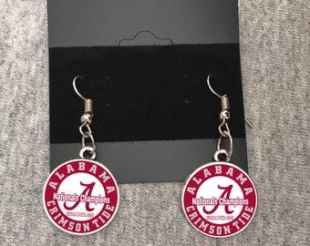 Alabama Crimson Tide Earring