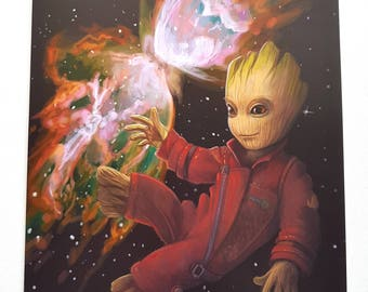 Baby Groot A4 poster.