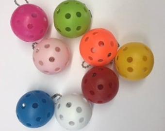 Pickleball or Golf Ball Key Chain or Bag Tag