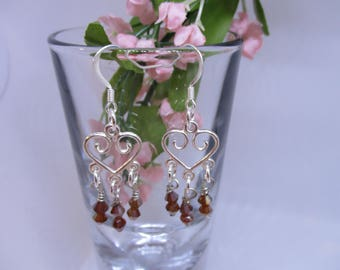 Beaded drop earrings, Beaded earrings, Dangle earrings, Unique earrings, Handmade earrings, Gifts for her