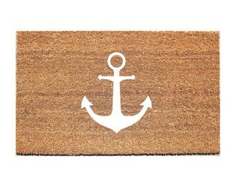 Anchor Doormat - Beach Doormat - Nautical Doormat - Welcome Mat - Hello Doormat - Doormats - Doormat Humor - Unique Doormat - Cute Doormat