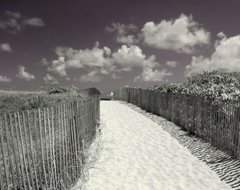 Beach Fence B/W color Photography Miami Beach Nautical fine art photo