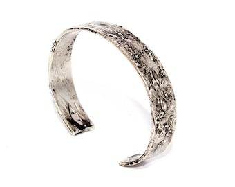 Women's bracelet rigid Bronze plated Palladium collection tribute to Jackson Pollock-Arlo Haisek, made in Italy