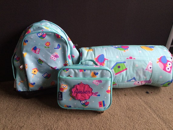 Girls Nap Mat Backpack Lunch Box Set Of 3 School Daycare