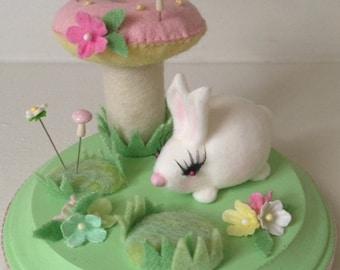 Bunny the Bon Bon Mushroom Pincushion OOAK
