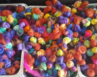 Mini Floooffs, 4 oz, roving, top,wool,spinning