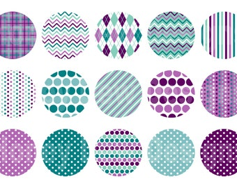 Instant Download - Digital Collage Sheet - 1inch circles 042