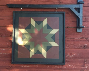 Primitive Barn Quilt Arm Wall Bracket
