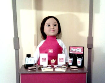 "American Girl, Our Generation, My Life, 18"" Doll Sized McDonalds Restaurant Playset"