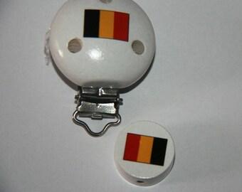 Pacifier clip belgian flag