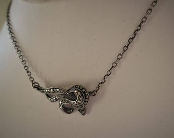 Vintage A lovely Art Deco Marcasite Necklace Sterling Silver