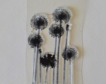 Dandelion, Flower, Plastic, Rubber, Silicone, unmounted Stamps