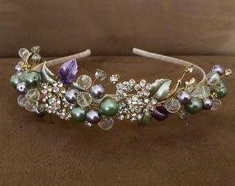 Floral Pearl Vintage Headband