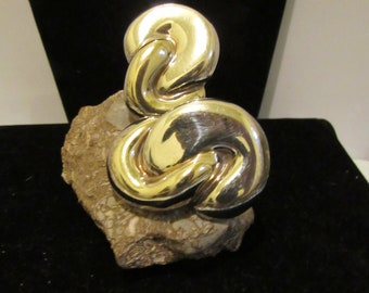 Massive silver ear rings Frederic Jean Duclos 925 on Wax