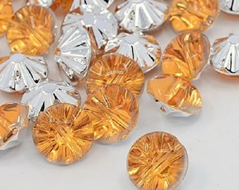 3 x 12 rhinestones (orange, yellow, Emerald)